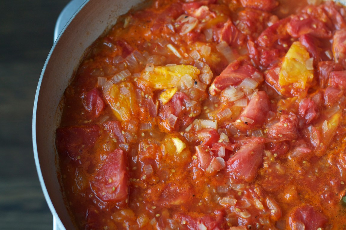 Simmered Tomatoes