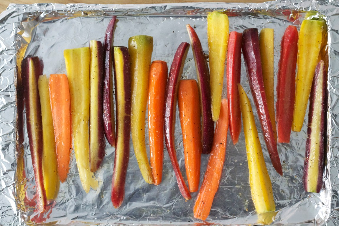 Sliced Rainbow Carrots