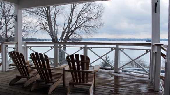 The lake is frozen but the welcome is warm at Viamede Resort.
