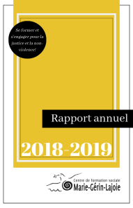 Page couverture Rapport annuel 2018-2019