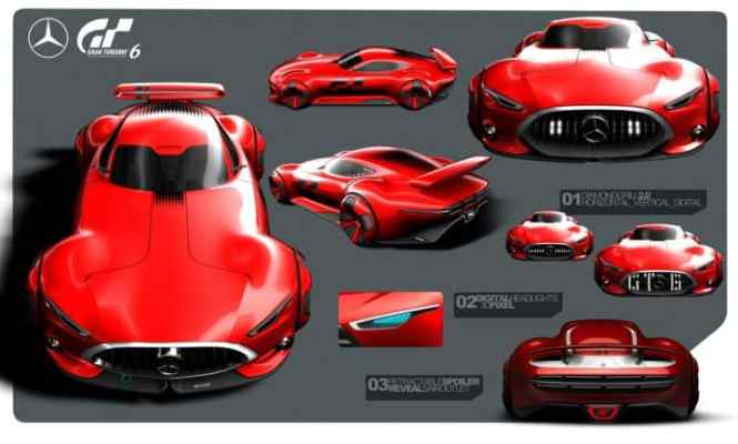 Mercedes Benz Amg Gran Turismo Concept Sketch By Bastian