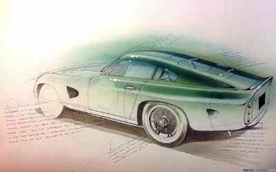 Aston Martin DP215S sketch by Adam Gompertz