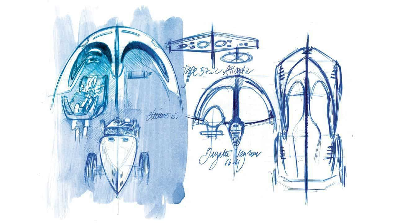 Bugatti Vision Gran Turismo Design Sketches Form Trends