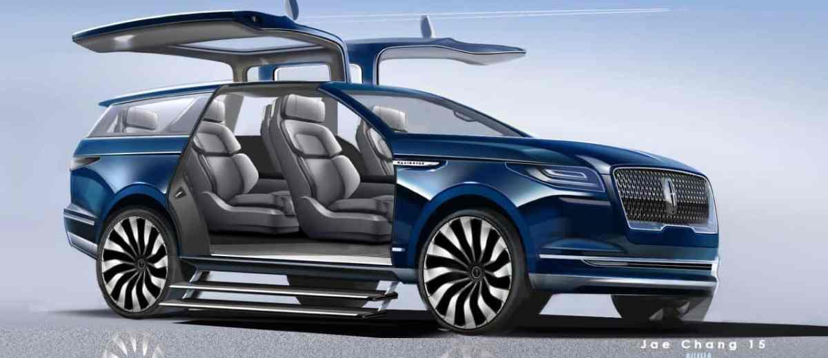 Lincoln Navigator concept sketches by exterior designer Jae Chang