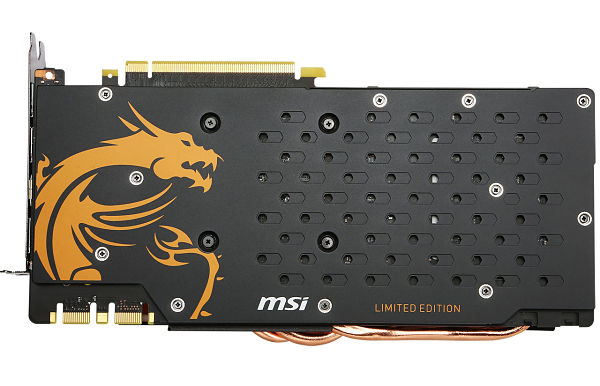 MSI GTX 980Ti Gaming G6 Golden Edition Backplate