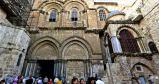 Entrada a la Basílica del Santo Sepulcro