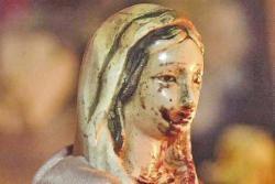 virgen que llora sangre en santiago del estero