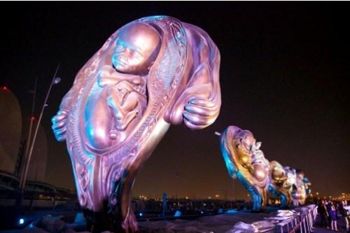serie de escultura en perspectiva