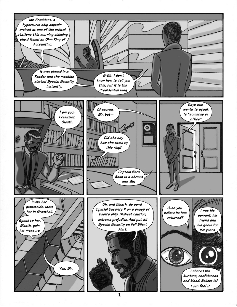 Forsaken Stars Issue, Three Page 1