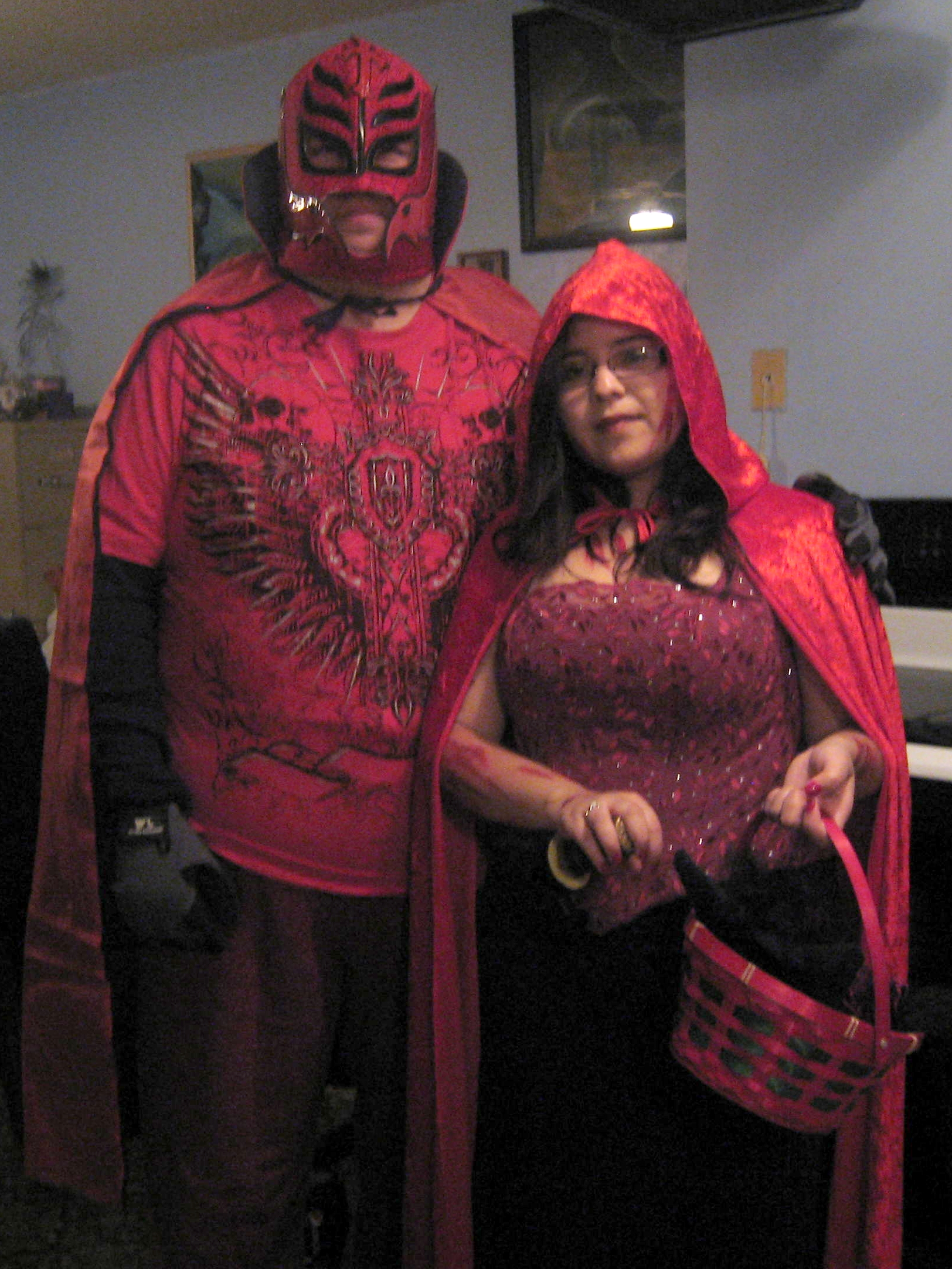 Happy Halloween from Red Spider and Red Riding Hood