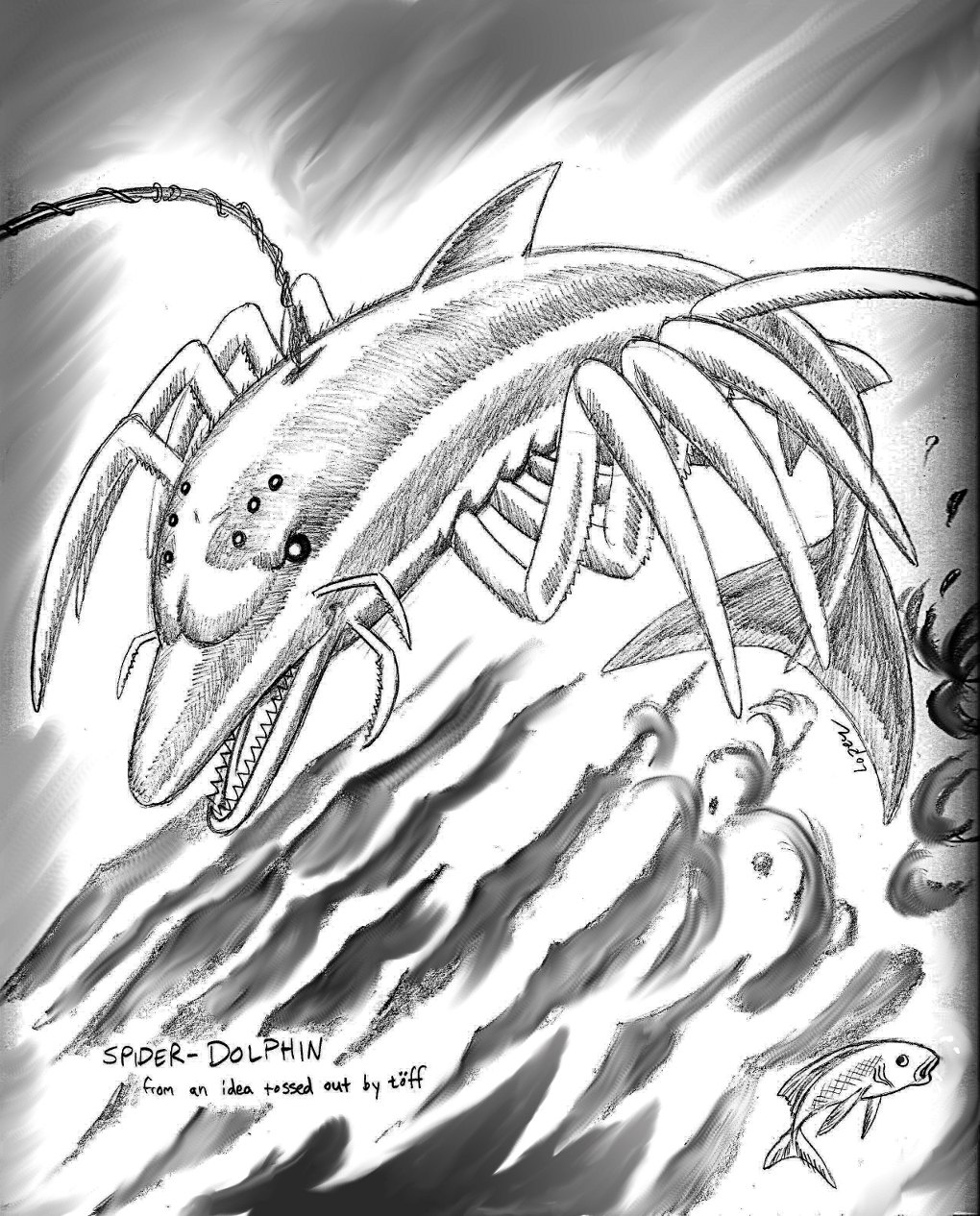 Beware the Terror of the Spider-Dolphin!