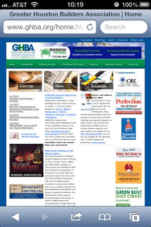 GHBA screenshot