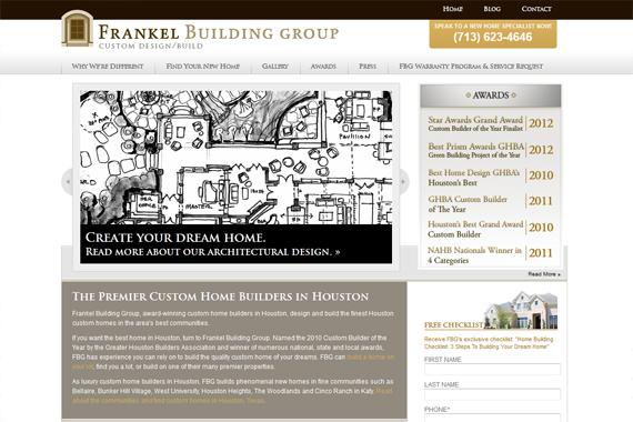 Frankel Building Group Homepage website