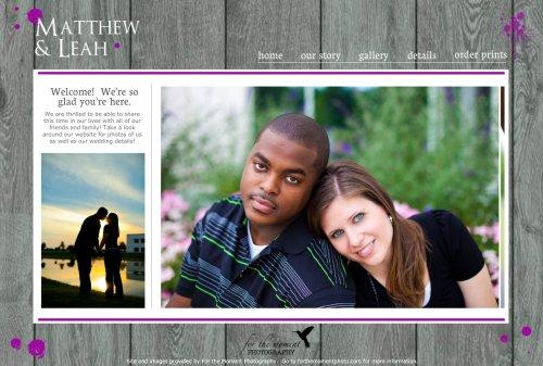 Medium Of Wedding Website Examples