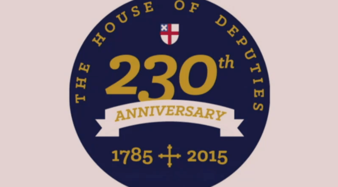 While the bishops were away, the House of Deputies had a party to celebrate their anniversary