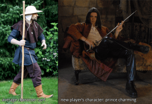 If everyone else has serf-level characters, don't create Prince Charming with a blade and a warhorse.