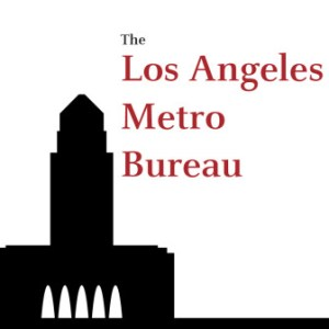 Los Angeles Bureau logo - a city skyline silhouette.