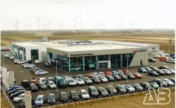 Luftbild Autohaus Kamper, Neusiedel