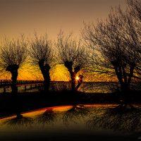 Sunset outside Lund
