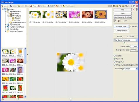 Programa para editar fotos Photoscape. Gif Animado