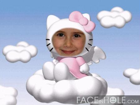 Fotoefectos infantiles de Hello Kitty