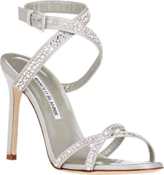 sandália strass noiva