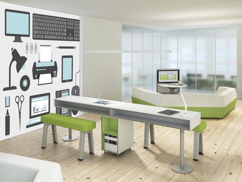 Fotomural oficina edificios for Articulos de oficina