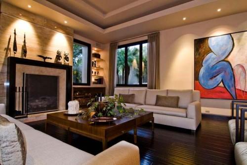 ruang keluarga minimalis 8