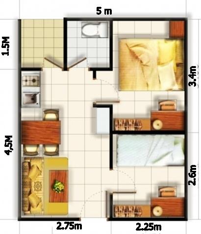 denah 2 kamar tidur (4)