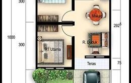 denah rumah sederhana type 36