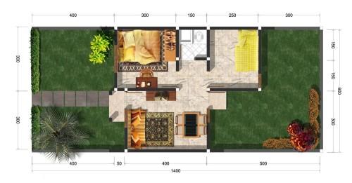 gambar denah rumah type 36 5