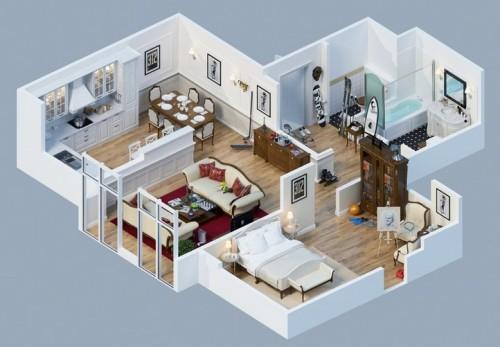 Denah Rumah Minimalis 1 Lantai  (3)