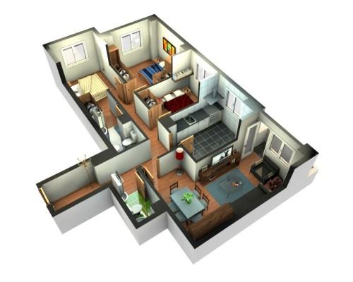 Denah Rumah Minimalis 1 Lantai  (20)