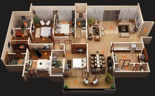 Denah Rumah Minimalis 1 Lantai  (16)