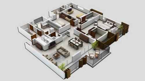 Denah Rumah Minimalis 1 Lantai  (13)