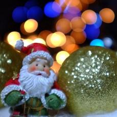 Bokeh mit Weihnachtsmann