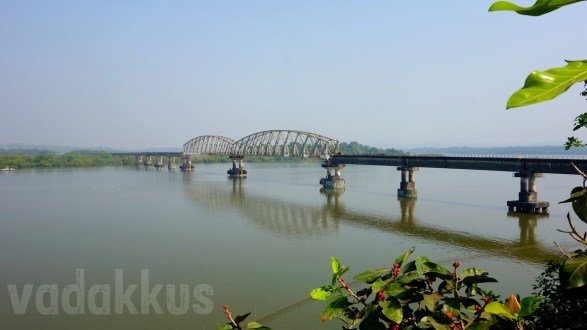 The Zuari Railway Bridge over the Zuari River, Goa