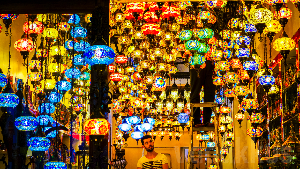 Turkish Lanterns on Display at the Bur Dubai Old Souk