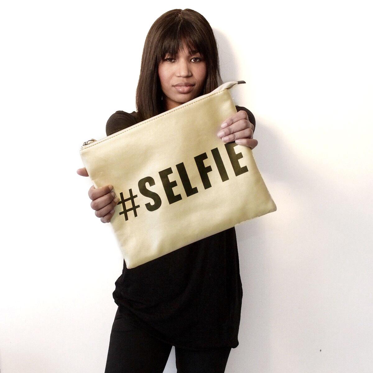 #Selfie Clutch Wrist Bag