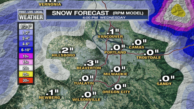 Sticking Snow Unlikely Metro Area Tonight (2/3)