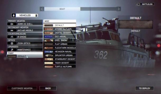 battlefield 4 customisation 4 610x357 BATTLEFIELD 4:バトルログ2.0とビークルカスタマイズ画像がリーク、PC版の必要スペックも Battlefield 4
