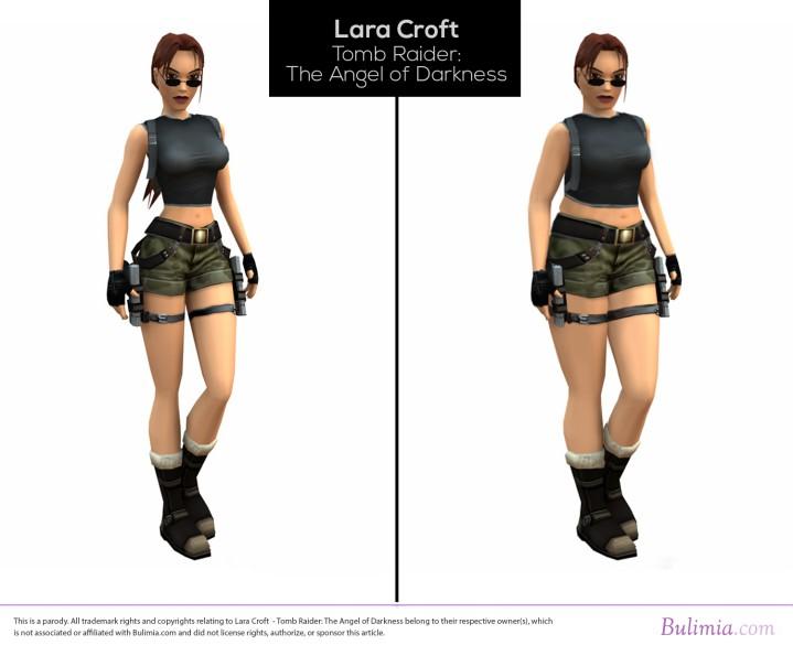 女性ゲームキャラクターを平均的なアメリカ人の体型に修正した画像が話題に