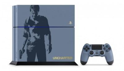 数量限定「PlayStation 4 アンチャーテッド リミテッドエディション」とグレー・ブルーのDUALSHOCK 4、予約受付開始
