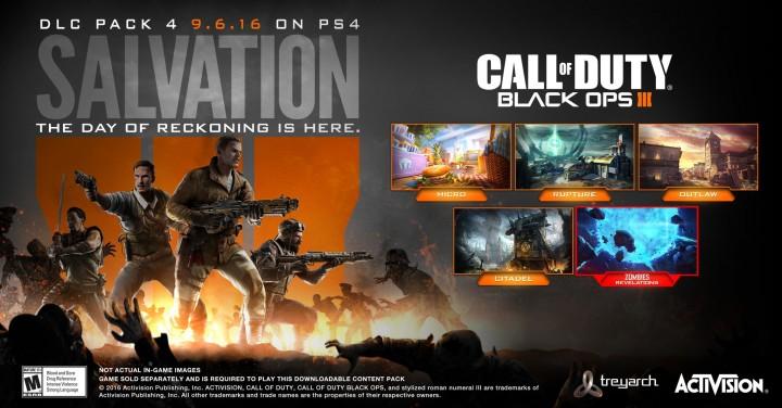 """CoD:BO3:第4弾DLC""""Salvation(サルベーション)""""、PC/X1へ10月6日配信"""
