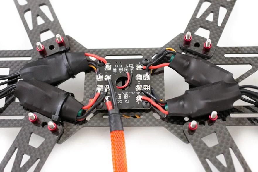 power the quadcopter build