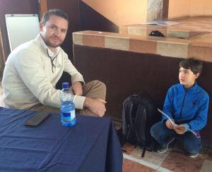 Phillip Steyn meets Sam at matatiele-rhino-meeting-24aug2016
