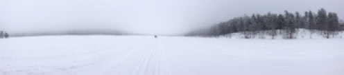 Panorama view on a skying day