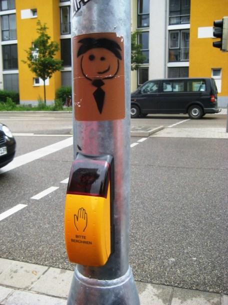 Street Art Freiburg DE 08.06.12 stencil sticker