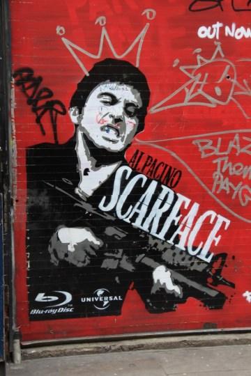 street art - Londres, UK stencil - al pacino scarface