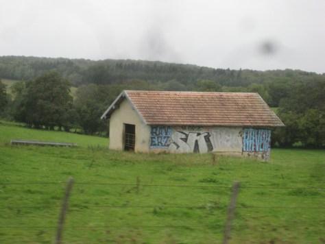 Raverz, SK, Pel - graffiti - doubs